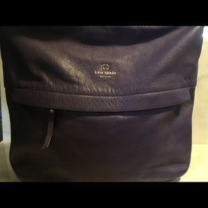 Kate Spade New York Purple Pebble Leather Satchel